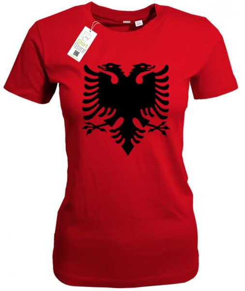 Albanien Adler - Albania Fan - EM WM - Damen T-Shirt