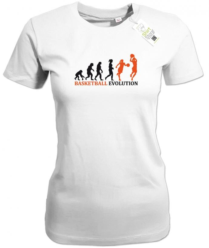 Basketball Evolution - Damen T-Shirt weiss