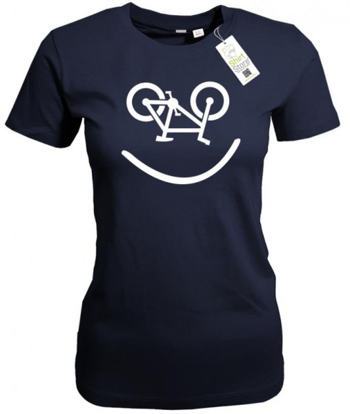 Biker Smiley - Fahrrad - Damen T-Shirt