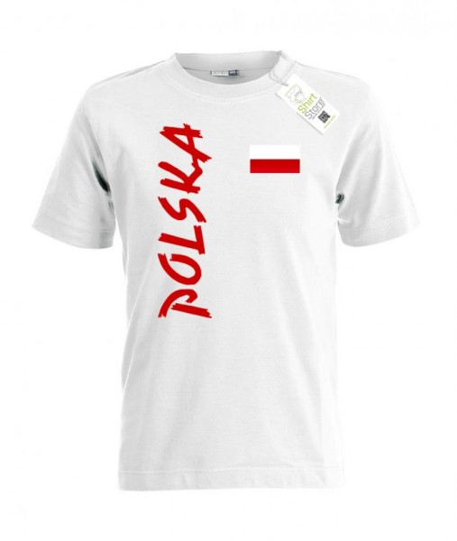 Polen Fahne - EM WM - Polska Fan - Kinder T-Shirt