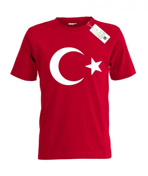 Türkei - Mond Stern - EM WM - Fan - Kinder T-Shirt