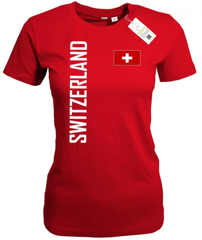 Switzerland Fahne EM WM - Schweiz - Fan - Damen T-Shirt