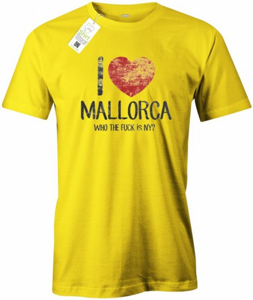 I Love Mallorca - Who the fuck is New York - Malle - Herren T-Shirt