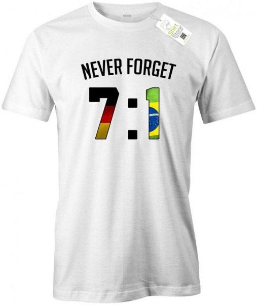 Deutschland Fan Shirt - WM - 7:1 - Never forget - Fan - Herren T-Shirt