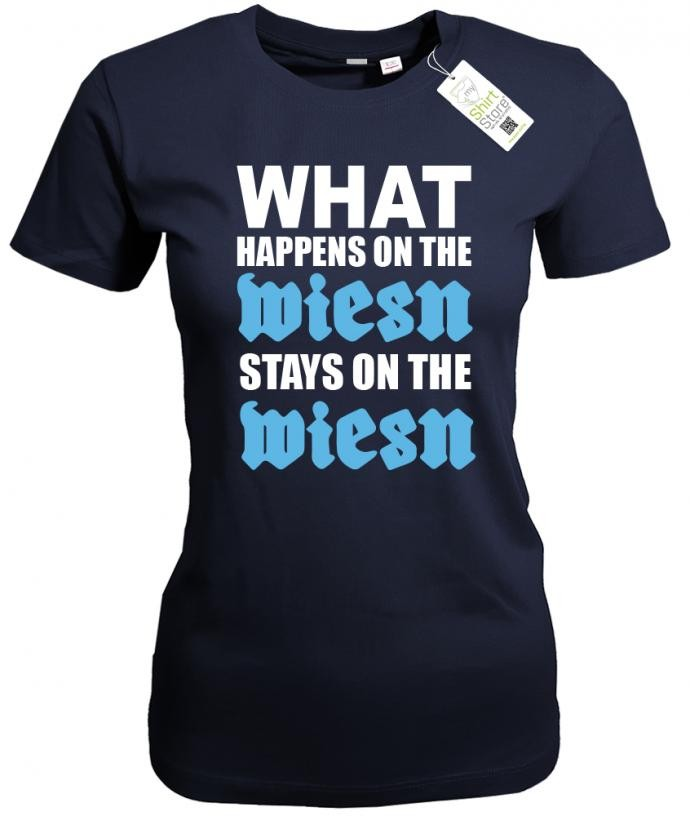 What happens on the wiesn stays on the wiesn - Deluxe - Oktoberfest - Damen T-Shirt
