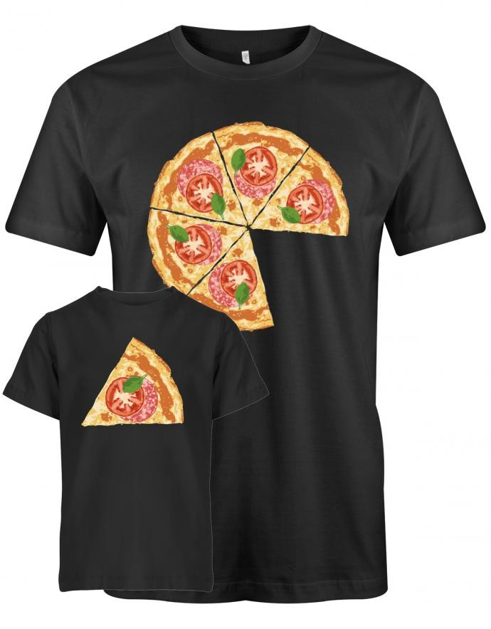 Pizza Couple Papa Kind Shirts 2Stk - Set