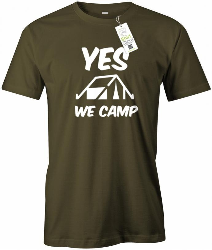 Yes we camp - Herren T-Shirt