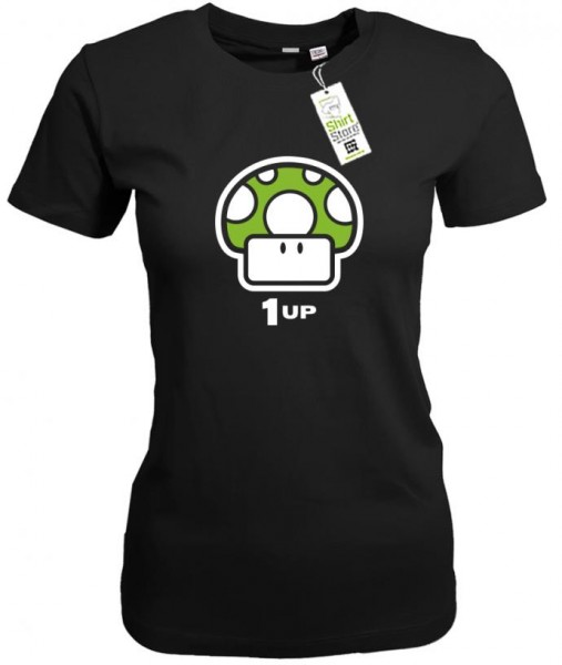 Mushroom 1up - Gamer - Damen T-Shirt